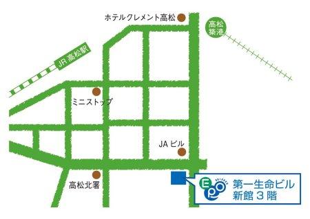 四国EPO事務所の地図